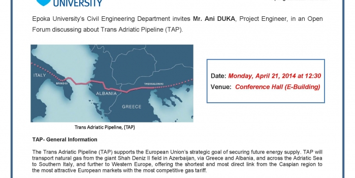 Trans Adriatic Pipeline Open Forum