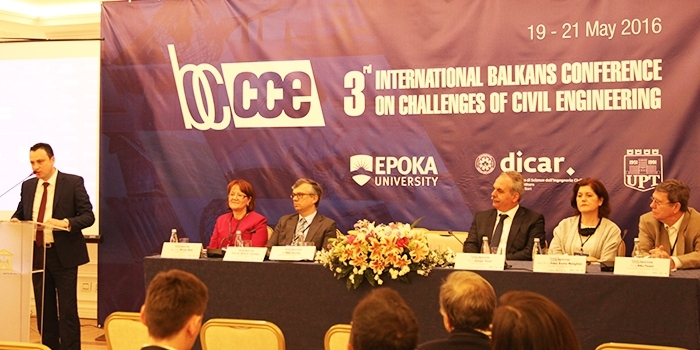 Epoka University organized the 3rd International Balkans Conference on Challenges of Civil Engineering
