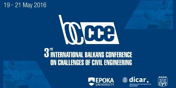 Konferenca e Tretë Ndërkombëtare Ballkanike mbi Sfidat e Inxhinierisë së Ndërtimit