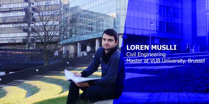 Loren Muslli, Civil Engineering Student, at VUB University