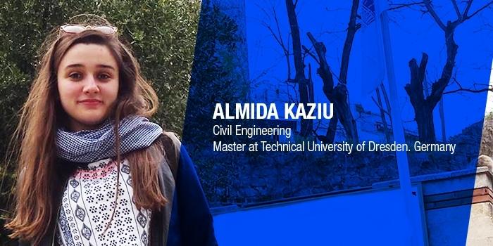 Almida Kaziu, Studente ne Inxhinieri Ndertimi, ne