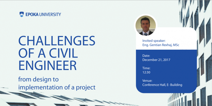 Open Lecture - Challenges of a Civil Engineer from design to implementation of a project