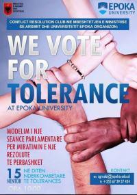 """Modelimi  i nje seance parlamentare - """"Votojmë për tolerancën"""""""