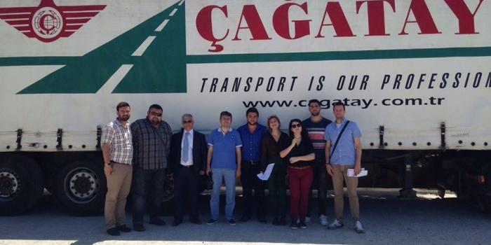 "International Marketing and Logistics Management third year students visits ""Cagatay"" Logistics Albania."