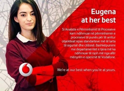 Eugena Pepa, studente Ekonomiksit fituese e programit Vodafone Albania Discover