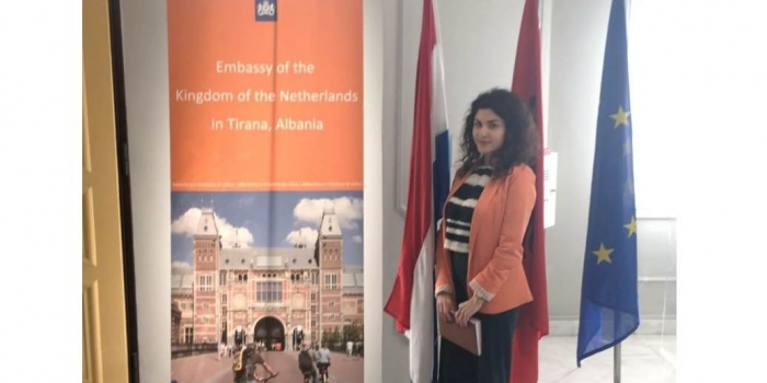 Dijena Drenova, Economics Student starts internship at the Netherlands Embassy