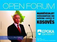 Open Forum with Mr. Jakup Krasniqi, Speaker of the Parliament of Kosovo