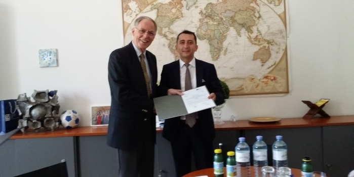 Assoc. Prof. Dr. Sokol Dervishi officially received Venia Docendi title from the Rector of Vienna University of Technology