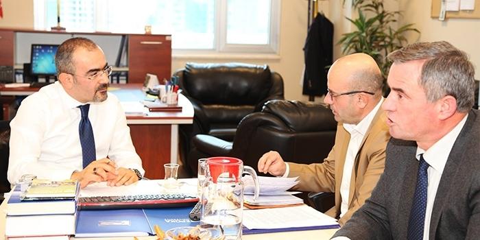 Meeting of Assoc. Prof. Dr. Huseyin Bilgin with the General Director of Civil Emergencies, Mr.Shemsi Prençi, at Epoka University.