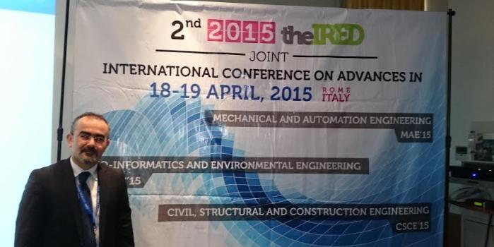 Assoc.Prof.Dr. Hüseyin Bilgin was invited as a keynote speaker to the 2nd CSCE'15