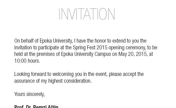 Spring Fest Invitation