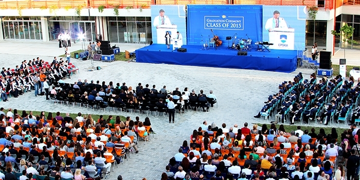 Epoka University organizes the Graduation Ceremony 2015