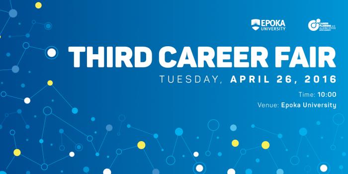 Third Career Fair, Internship and Job opportunities for