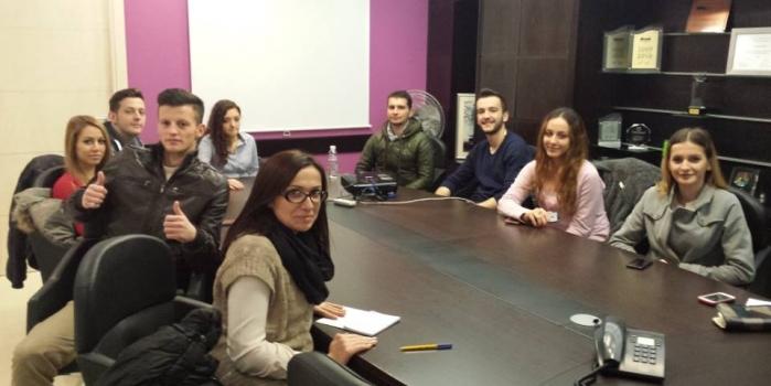 Vizita e Entrepreneur Club në InfoSoft Systems .