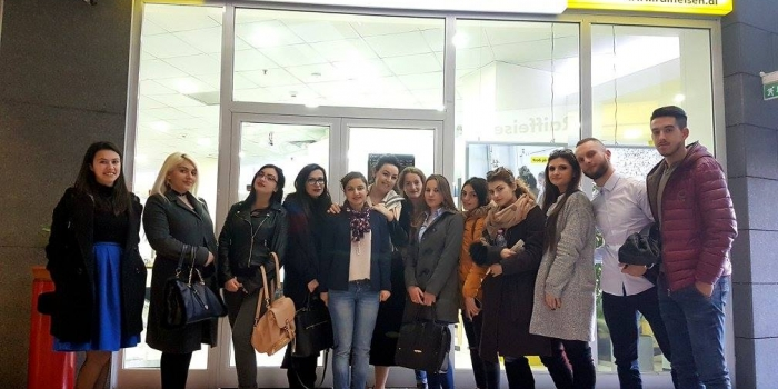 Epoka Students Training Visit at Raiffeisen Bank