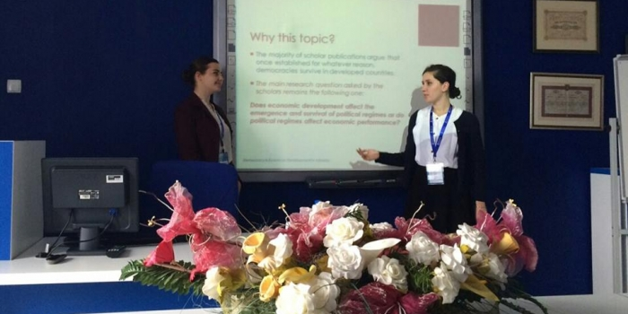 Reina Shehi, lecturer of PIR department together with 3 students from PIR department, Aleksia Kasapi, Dea Elmasllari and Sara Cela participated in the ICESoS conference in Sarajevo, Bosnia-Herzegovina