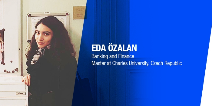 Epoka University graduate Eda Özalan, has won scholarship at Charles University in Prague