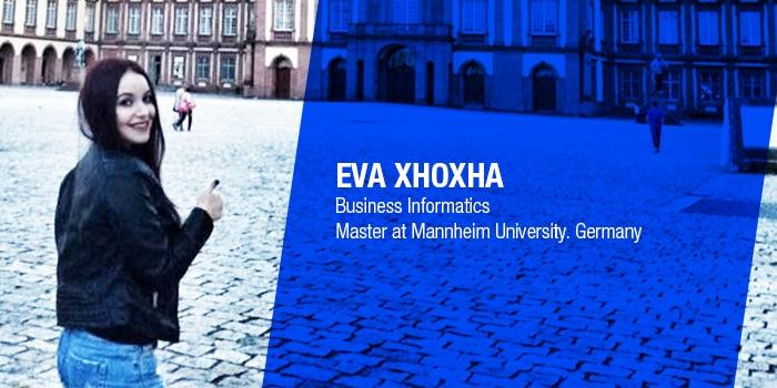 Epoka Graduate Testimonial: Eva Xhoxha pursuing her master studies at Mannheim University, Germany