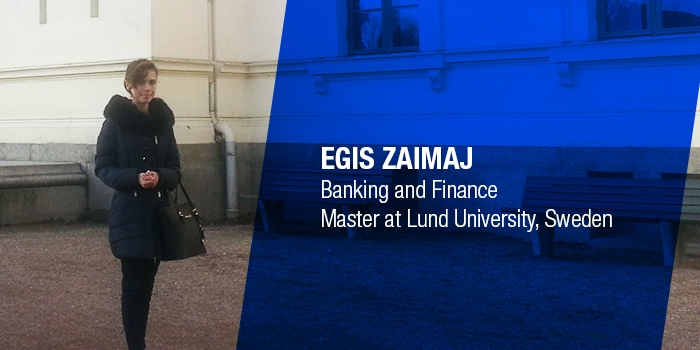 Egis Zaimaj granted full scholarship from Lund University, Sweden