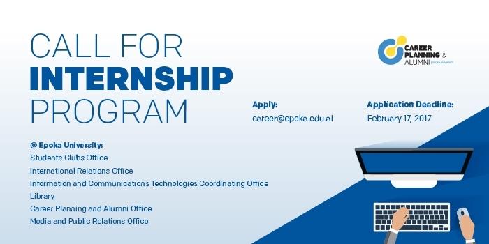 Call for Internship Program at Epoka University