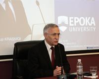 Forum: Kryetari i Parlamentit të kosovës, z. Jakup Krasniqi bashkëbisedim me studentët e Epokës