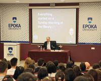 Baybars Altuntas bashkëbisedim me studentët e Universitetit Epoka: Rruga ime drejt Shtëpisë së Bardhë