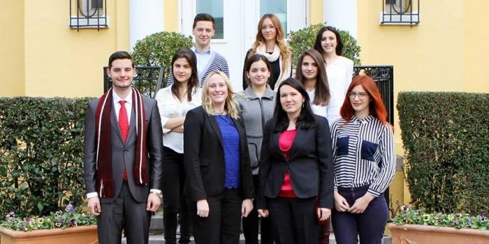 Epoka University students get to know America