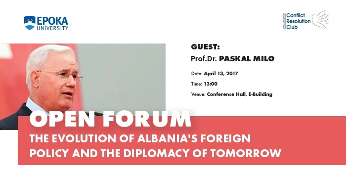 Open Forum-Prof.Dr.Paskal Milo-The Evolution of Albanian Foreign Policy and the Diplomacy of Tomorrow