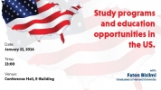 Study programs and education opportunities in the US.