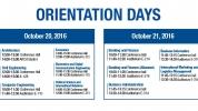 Orientation Days for Freshmen Students Oct 20-21