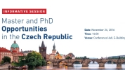 Master and PhD Opportunities in the Czech Republic