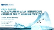 Global Warming as an International Challenge and It's Albanian Perspective