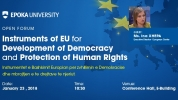 Instruments of EU for Development of Democracy and Protection of Human Rights