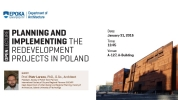 Planning and implementing the redevelopment projects in Poland