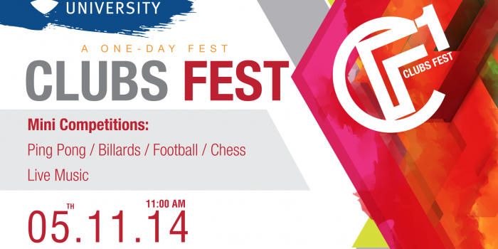 Student Clubs and Activities Office organizes Clubs Fest on Wednesday, Nov 5, 2014