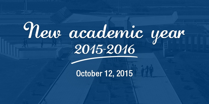 Beginning of the 2015-2016 academic year on October 12, 2015