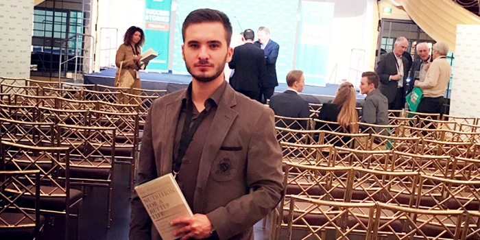 Epoka Graduate, Taulant Kastrati Pursuing Master's at EU Business School