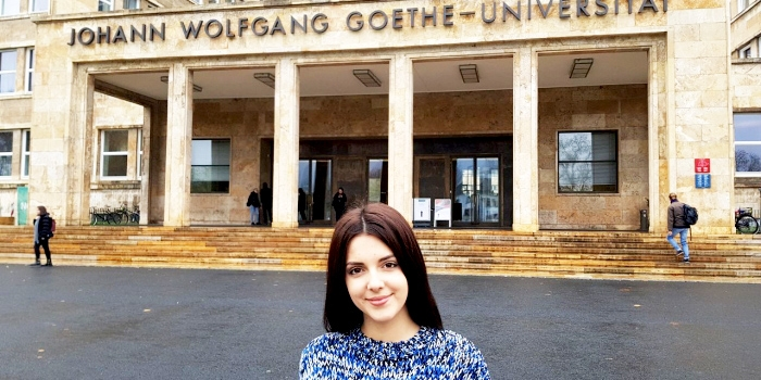 Jurida Çeka, Epoka Graduate, Shares about Experience at Goethe University