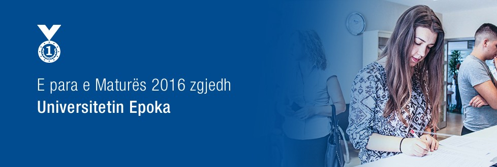 The best of Matura 2016 chooses Epoka University